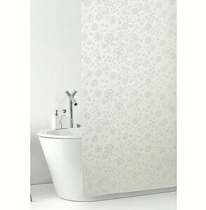Shower Curtain Bathroom Mold PVC Waterproof Hooks Items Flowers Made IN Italy