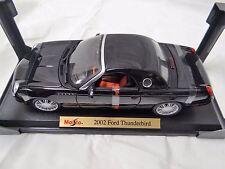 MAISTO 2002 FORD THUNDERBIRD A COLLECTIBLE DIE CAST CAR  1:18 BLACK RED INTERIOR