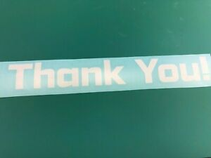 "Thank You -  Die Cut Vinyl Letters Decal 5"", 7"", 10"" (Apotek Heavy), colored"