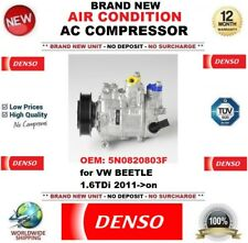DENSO AIR CONDITION AC COMPRESSOR OEM: 5N0820803F for VW BEETLE 1.6TDi 2011->on