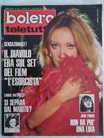 Bolero 1407 Malfatti Simonetti Fonda Mori Antonelli Vanoni Visconti l'esorcista