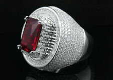 Red Cluster Sterling Silver Fine Rings