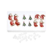 6 Pairs Christmas Women Ear Earrings Cute  Stud Earrings Jewelry Set Gifts