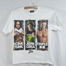 CM PUNK kids WWE T shirt Medium youth JOHN CENA pro wrestling TRIPLE H retro