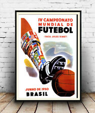 Brazil World cup 1950 : Vintage Advertising  Poster reproduction