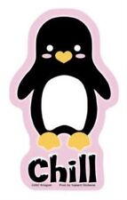 Adorable Little CHILL PENGUIN Sticker Decal Die-Cut Stickers Art By Krisgoat NEW