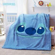 Blue Stitch cartoon Blanket Throw Sofa Blankets quilt NEW