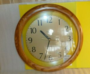 Linden Quartz Wooden Resin Clear Cut Out Matches the Wall Decor Clock Round 11.5