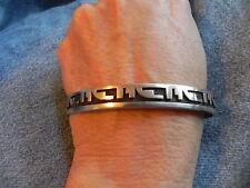 Hopi Overlay Sterling Silver Cuff Bracelet signed George Phillips
