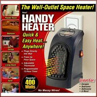 Electric Wall Heater Mini Portable Plug-in US Personal Space Warmer 400W New