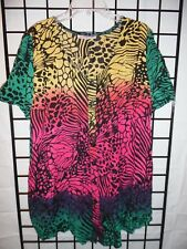 roaman's tye dye blouse size 16W