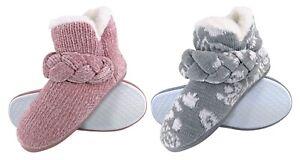 DUNLOP - Cute Knitted Winter Warm Slipper Boots for Women
