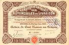 Compagnie de Automobiles de Livraison SA, accion, Paris, 1912
