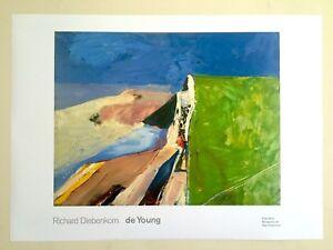 RICHARD DIEBENKORN ABSTRACT EXPRSNT LITHOGRAPH PRINT MUSEUM POSTER SEAWALL 1957