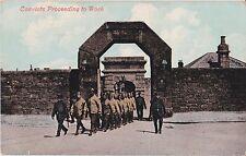 Devon Postcard CONVICTS PROCEEDING TO WORK, PRINCETOWN 1909 by Valentines