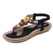 2017 Ladies Womens Sandles Flip on Flops Boho Thongs Sandals Summer Beach Shoes