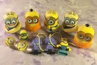 Minions Despicable Me Movie Figures Toy Cake Toppers Hangers Bouncy Ball Lot 11