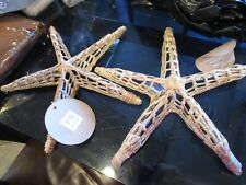 2 Pottery Barn Teen Wicker Sea Critters star fish starfish New with tags