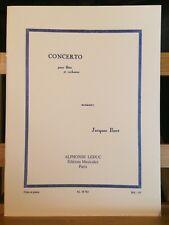 Jacques Ibert Concerto pour flûte partition éditions Leduc