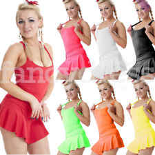 Ladies Neon Lycra Vest Stretchy Top Dance Party Casual Club Gym Rave Summer NEW