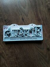 Brand new driftwood sign / plaque Auntie