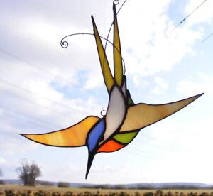 Tiffany Glasfensterbild  KOLIBRI