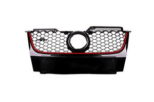 VolksWagen Golf MK5 GTI Front Grille In Gloss Black With Red Line (2004-2008)
