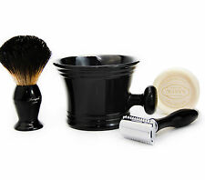 Doble Borde Seguridad Navaja Afeitar Set + Badger Cabello Brocha De Afeitar & Taza Set De Regalo