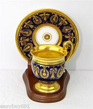 Old Paris Guilt with Gold Wash Porcelain CUP & SAUCER