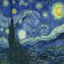 VAN GOGH STARRY NIGHT   IMAGE  COASTERS SET OF 4 RUBBER BACKED
