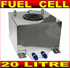 FUEL CELL 20L LITRE 5 GALLON ALUMINIUM FUEL TANK + SENDER & INTERNAL FOAM LAYER