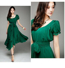 02 Deep Green women Ladies Elegant Evening Cocktail Party Dress plus Size 24