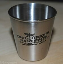 INGLOURIOUS BASTERDS STAINLESS STEEL SHOT GLASS Metal Blu-Ray Movie Promo New