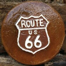 Rt. 66 plaque, stepping stone, plastic mold, concrete mold, cement, plaster