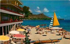Hawaii, Hi, Waikiki, The Reef Hotel Chrome Postcard
