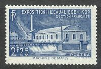 France 1939 MNH Mi 449 Sc 388 Pumping station at Marly **