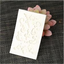 Vintage Baroque Lace Decoration Silicone Mould Floral Love Sugarcraft BS