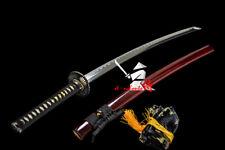 HANDMADE 608# FOLDED STEEL BLADE JAPANESE SAMURAI KATANA BATTLE READY SWORD NEW