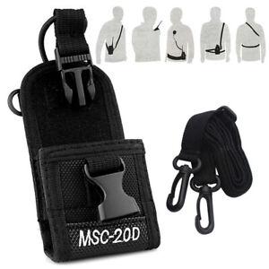 1pc Radio Holder Multi-function Holster Case Nylon For Walkie-talkie Adjustable