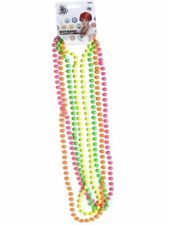 80's UV Beaded Necklaces Neon Rave Festival Party Fancy Dress Accessory