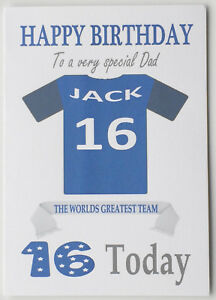 """""""Southend United Style"""" Personalised UNOFFICIAL Football Birthday card"""