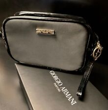 Giorgio Armani Parfums Luxury Clutch Evening Hand Bag Black Pouch Purse  Boxed 17fb534378345