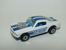 Matchbox Superfast No 23 Mustang GT 350 Light Blue Stripe N Mint Hong Kong UB