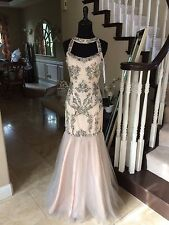 $451 NWT TERANI COUTURE MERMAID PROM/PAGEANT/FORMAL DRESS/GOWN #151P0115 SIZE 4