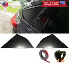 Satin Black out Quarter Window Glass Cover Louver For 12-18 Focus ST RS Hatchbac