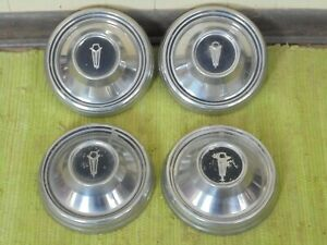 "68 69 Plymouth Dog Dish HUB CAPS 9"" Set of 4 Mopar 1968 1969 Hubcaps"