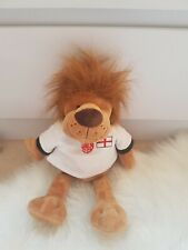 SAINSBURY Lion Singing England Team Football Soft Plush Toy Beige White Top 13""