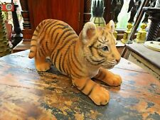 More details for playful tiger cub by vivid arts. incredibly cute, realistic home garden ornament