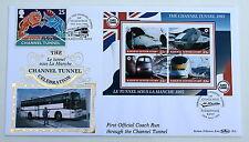 CHANNEL TUNNEL RAILWAY LETTER M/S FIRST COACH RUN BENHAM COVER 1995 MULTI  H/S