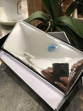 Michael Kors Warren Mirror Metallic Continental Zip Around / Long Wallet Silver